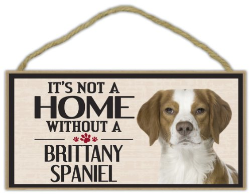 Dog Breed Brittany Spaniel - Wood Sign: It's Not A Home Without A BRITTANY SPANIEL | Dogs, Gifts, Decorations
