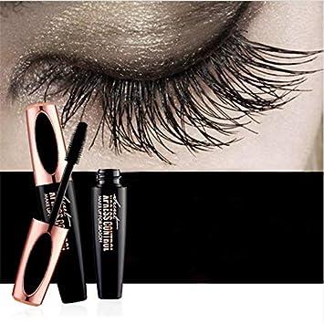 0c93982f72f Amazon.com : 4D Silk Fiber Lash Waterproof 3D Mascara For Eyelash Extension  Black Eye Lashes Cosmetics : Beauty