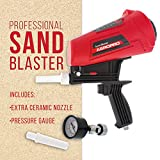 TCP Global Gravity Feed Sand Blaster Gun Kit - Hand