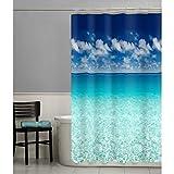 Clear Vinyl Fish Shower Curtain MAYTEX Photoreal Escape Waterproof PEVA Shower Curtain
