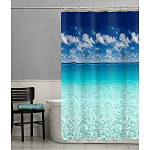 51kCC%2BeMe1L._SS300_ 200+ Beach Shower Curtains and Nautical Shower Curtains