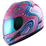 Motorcycle Street Bike Pink Dragon Full Face Woman/Lady Helmet
