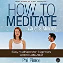 How to Meditate in Just 2 Minutes: Easy Meditation for Beginners and Experts Alike! Audiobook by Phil Pierce Narrated by Diane Lehman
