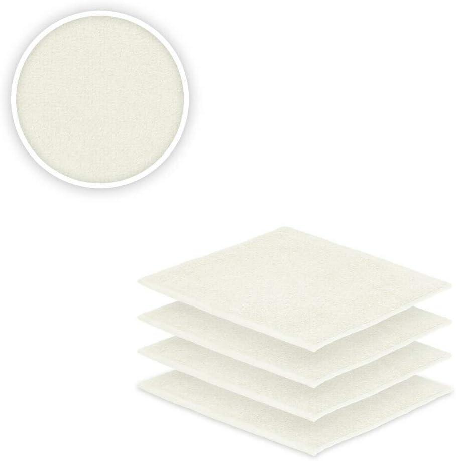 Cotone Bianco naturale EXKLUSIV HEIMTEXTIL set di asciugamani in tessuto termico con fiocco e cuscino per sedia da giardino o sdraio Seiftuch 4er Set 30 x 30 cm
