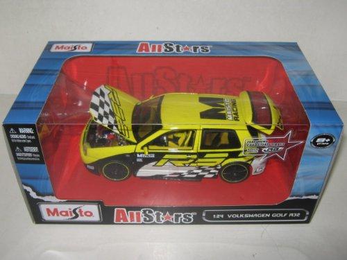 Maisto 31043 Volkswagen Golf R32 Yellow All Stars 1/24 Diecast Model Car