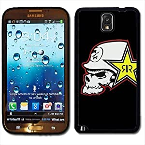 Samsung Galaxy Note 3 Black Rubber Silicone Case - Rock Star Metal Mulisha Skull FMX