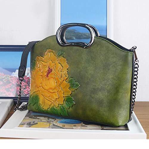16 Handbag Diagonale 6 Dipinta Cm Green Pacchetto Spalla 27 A Femminile Opzionale Fiore Signora Mano Della green Grande Mano Borsa FpgSrF4