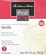 Protidiet High Protein Instant Pudding Mix (7-5.7 oz Pouches) (Vanilla)
