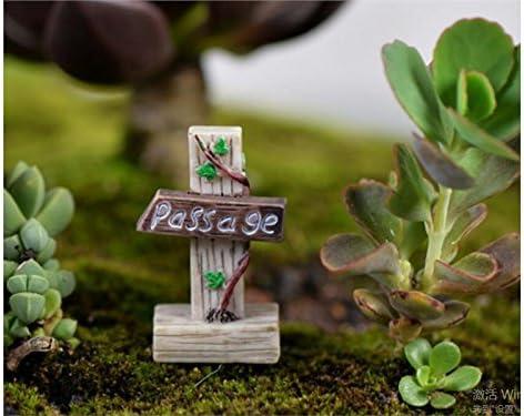 HGJNGHBNG Jardín en Miniatura Miniatura de árbol de Resina señales de tráfico Jardín de Hadas Adorno Micro Paisaje casa de muñecas decoración (Gris): Amazon.es: Hogar