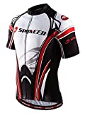 xxl mens cycling jersey - sponeed Men's Cycle Jersey Short Sleeve Indoor Spin Biking Shirt Cycle Jackets Team Uniforms Sportwear Asia XXXL/US XXL White-red