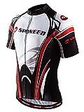 sponeed Men's Cycling Jerseys Tops Biking Shirts Short Bike Clothing Full Zip Bicycle Jacket With Pockets