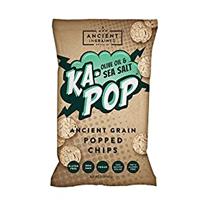 Ka-Pop! Popped Chips, Olive Oil & Sea Salt (1oz, Pack of 12) – Allergen Friendly, Ancient Grains, Gluten-Free, Paleo, Non-GMO, Vegan, Healthy, Whole Grain Snacks, As Seen on Shark Tank