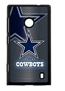Hoomin Dallas Cowboys Mental Like Grey Nokia Lumia 520 Cell Phone Cases Cover Popular Gifts
