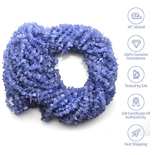 Tanzanite Chip - Natural Gemstone Chip Beads Free Form Shape, 1 Strand of 34