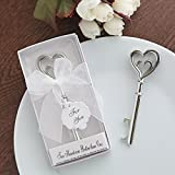 KateMelon Classic Bottle Opener Favor Kit, Set of 12, Two Hearts are Better than One