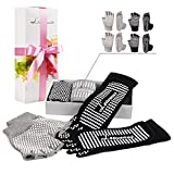 Yoga Socks and Gloves Non Slip - Leavenus 2017 New Design Gripper Toe Best Yoga Socks and Gloves for Women, Dance, Yoga, Piliates, Barre, Present Packaged in Gifts Box, 1000+ Instagram Likes