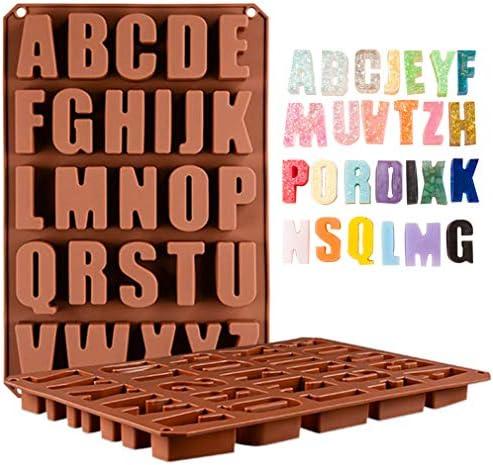 Wocuz Cavities Alphabet Silicone Chocolate product image