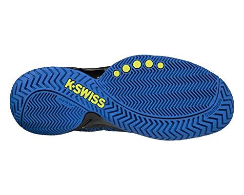 K-Swiss Herren Knitshot Tennisschuh Schwarz / Stark Blau / Neon Citron