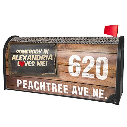 NEONBLOND Custom Mailbox Cover Somebody in Alexandria Loves me, Louisiana ()