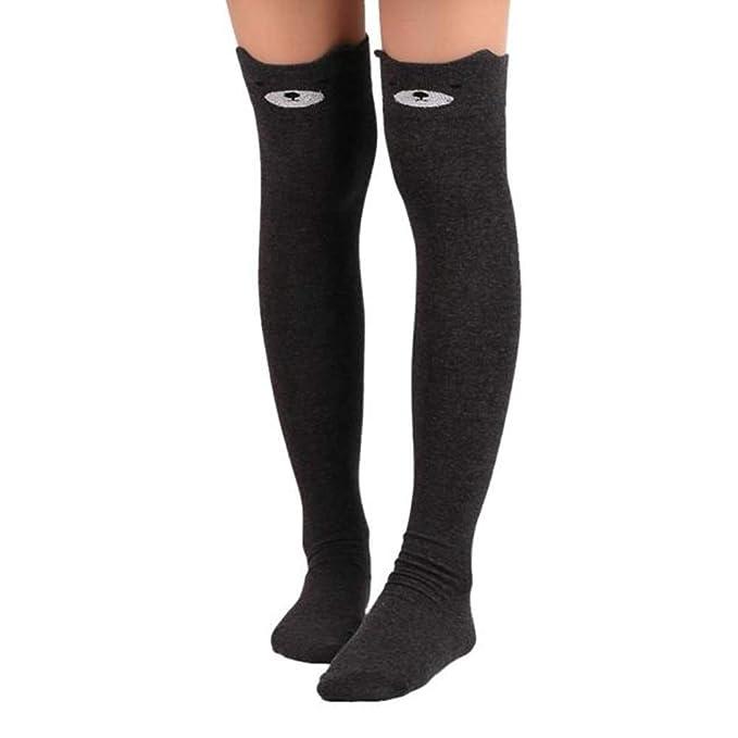 Damen Overknee Strümpfe Stricken Lang Socken Wintersocken Warm Dicke Stockings