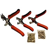 Hole Punch, Eyelet and Press Stud Plier Set - TRT Tools Hole Punching Tools For Making Round Holes in Leather, Plastic, Canvas, Cardboard, Saddles, Fabric, Paper, Belt, Shoes & More