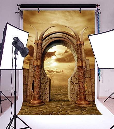CdHBH 10x12ft Fairytale Scene Photo Background Dream Arches Gloomy Sky Ivory Slate Floor Portrait Costume Photo Photography Background Cloth Photo Studio Photo Photography Background