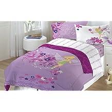 4pc Disney Tinkerbell Powder Purple Full Sheet Set