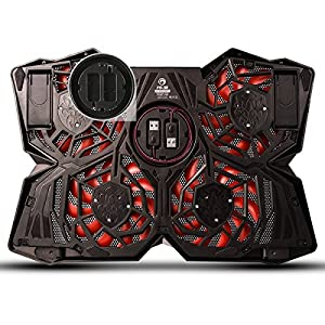 Marvo FN-30 Cooling Pad for 15.6 - 17 Inch Laptops with Four 120mm Fans at 1200 RPM ,Red