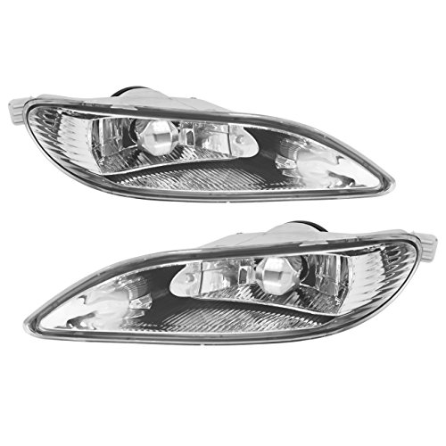 AJP Distributors 2002 2003 2004 02 03 04 Toyota Camry / 2005 2006 2007 2008 05 06 07 08 Corolla / 2002 2003 02 03 Solara Front Driving Fog Lights Lamps Pair Left Right Switch Harness JDM (Clear)
