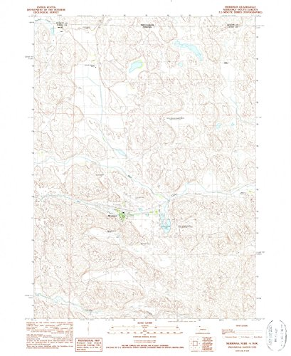 Merriman NE topo map, 1:24000 scale, 7.5 X 7.5 Minute, Historical, 1990, updated 1990, 26.8 x 22 IN - - Sandhill Of Village