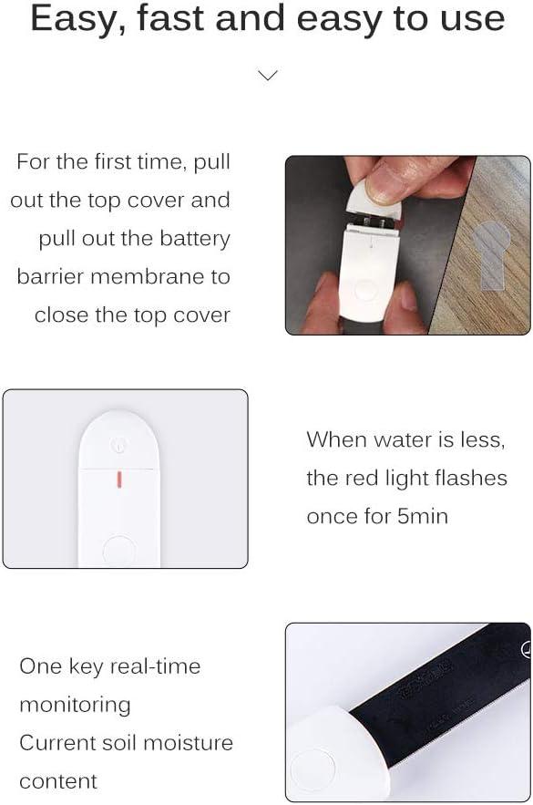 Sunsbell Soil Moisture Sensor Monitor Waterproof Compact Indicator Light Soil Hygrometer