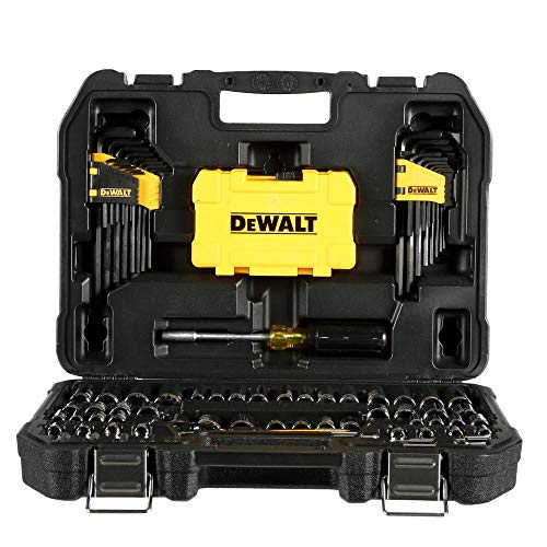 Professional Mechanic Tool Set Chrome with Case (108-Pc). Complete Mechanics Tools Kit w/Box Organizer & Storage has Variety of Automotive Equipment & Accesories for Car Repair. Gift for Men & Women by DEWALTS Tools (Image #2)