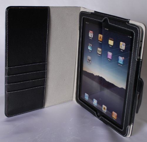 Apple iPad PU Leather Portfolio Book Jacket / Folio for Apple iPad 3G WiFi, 16gb, 64gb, SPECIAL HOLIDAY PROMO PRICE ! Best iPad Case Available !
