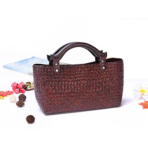 Bm02huang Woman Travel Chen Bag Style Beach Handbag Thai Rattan Bag Nei Straw British Style Bm02kafei Grass Bag Bag Vintage S8ZnqwxBT5