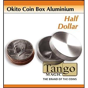 Okito Coin Box Aluminum Half Dollar by Tango - Trick