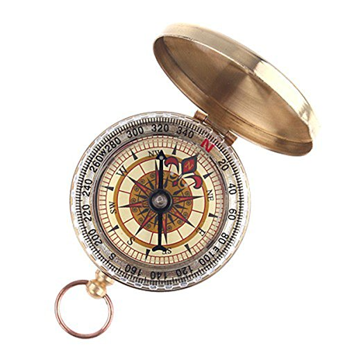 Classic Pocket Watch Style Bronzing Antique Camping Compass Camping , Mountaineering - Golden