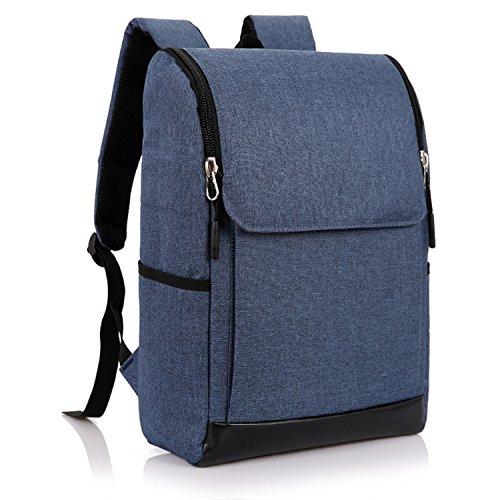 Mens Canvas Leather Laptop bags men Business Briefcase School College Satchel,blue