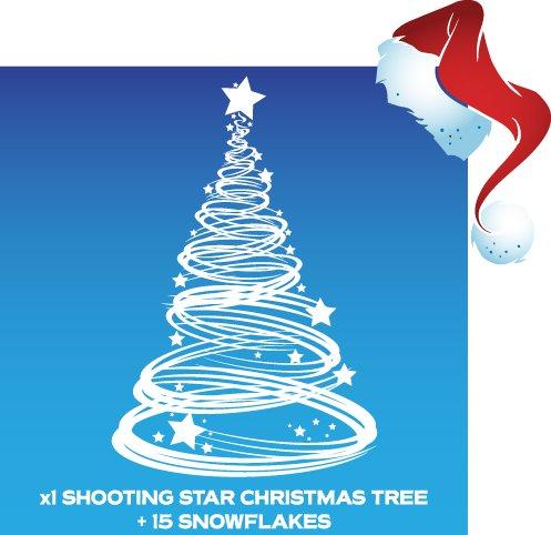 x1Shooting Star de Noël Arbre de Noël Décoration Fenêtre étirable et 15flocons de neige Aurum92
