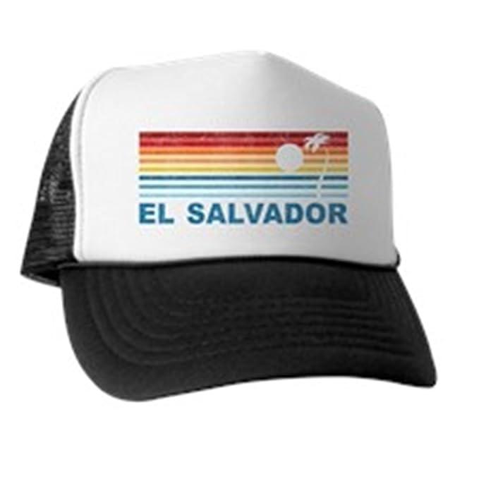 3456d911 CafePress - Retro El Salvador Palm Tree - Trucker Hat, Classic Baseball Hat,  Unique