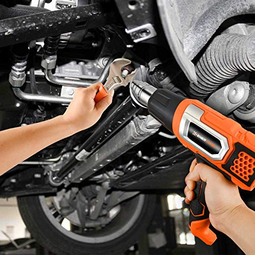 EnerTwist Heat Gun 1500 Watt Variable Temperature Control Hot Air Tool Kit Heating Protect for Shrink Wrap, Vinyl, Paint Removal, Wiring, Soldering, Crafts, Automotive, Tubing, Electronics Repair by ENERTWIST (Image #8)