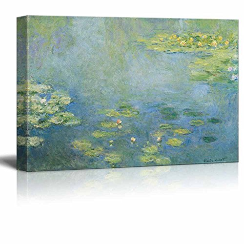 wall26 - Water Lilies by Claude Monet - Canvas Print Wall Art Famous Painting Reproduction - 24