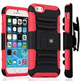 iPhone 6S Plus Case / iPhone 6 Plus Case - KAYSCASE ArmorHolster 3 Piece Heavy Duty Kickstand Case with Holster for Apple iPhone 6S 5.5 inch 2015 Version / iPhone 6 5.5inch 2014 Version (Red)