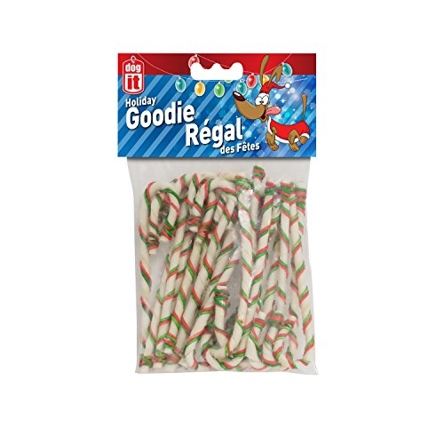 Dogit DO Holiday Candy Canes 7 inch - 20 - Christmas Cane Gift