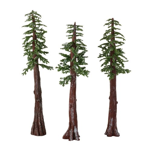 Department 56 Accessories for Villages Redwood Pines Tree, 11 inch (Set of 3)