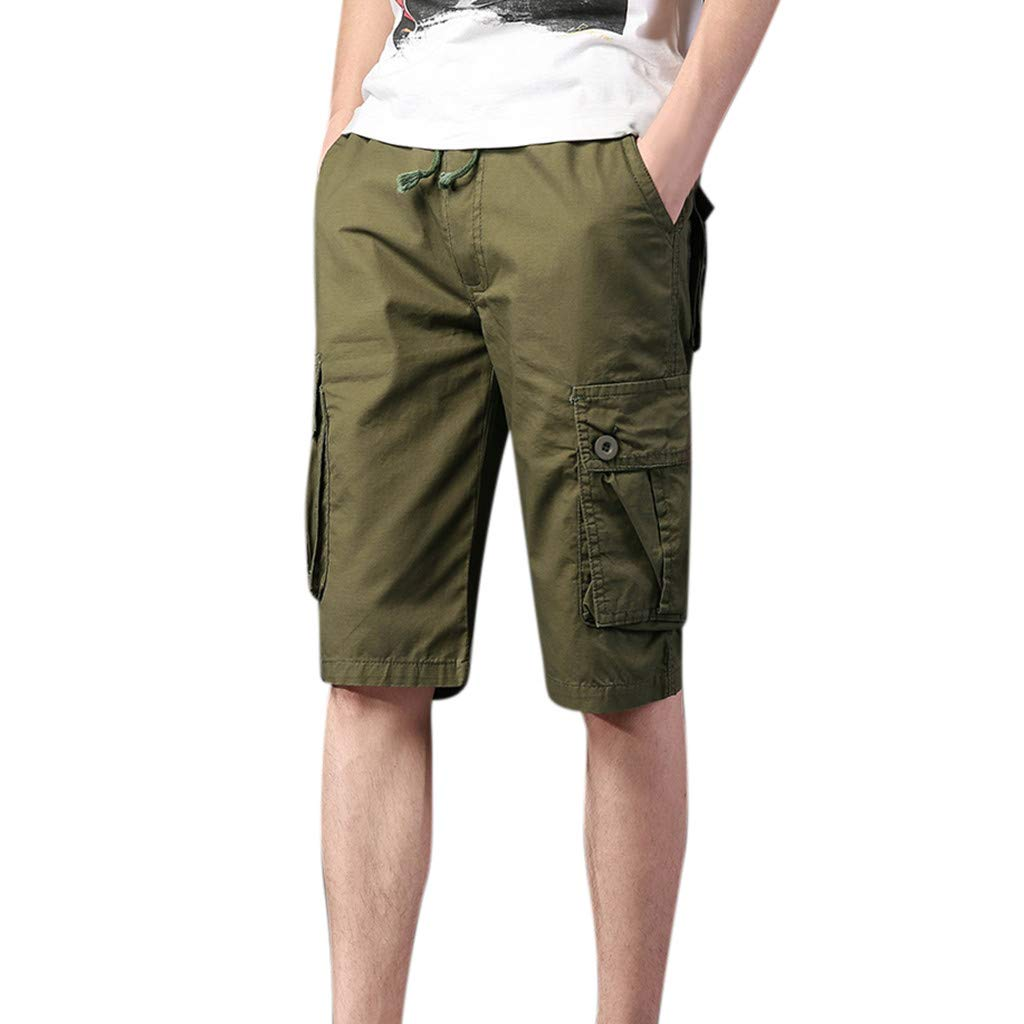 EINCcm Men's Cargo Shorts Outdoor Wear Casual Comfort Walk Short(Army Green, XXL)