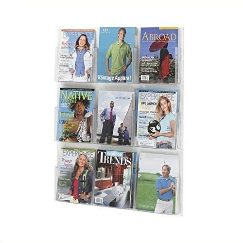 Safco Products 5665CL Clear2c Literature Display, 9 Magazine, ()