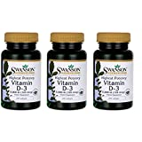 Swanson Vitamin D-3 5000 IU Bone Health Immune Support Healthy Muscle Function D3 Supplement (cholecalciferol) 125 mcg 120 Softgels Count (3 Pack)