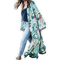 FAPIZI Autumn Women Coat Long Kimono Bohemia Floral Tassel Oversized Shawl Tops