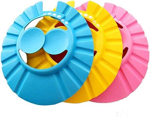 StyleZ - Gorro de ducha ajustable de goma EVA para bebé y niños, 3 ...