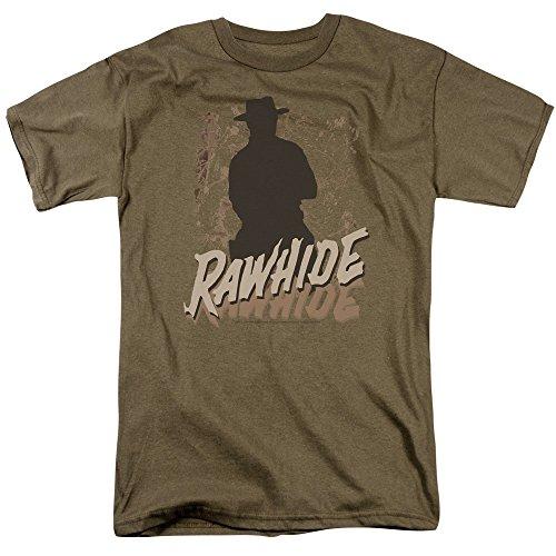 Trevco Men's Rawhide Short Sleeve T-Shirt, Safari Green, Large